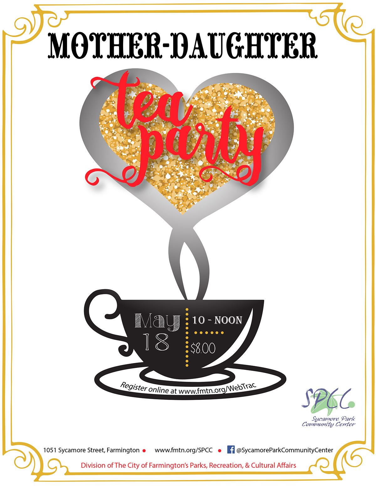 Mother Daughter Tea Party flyer